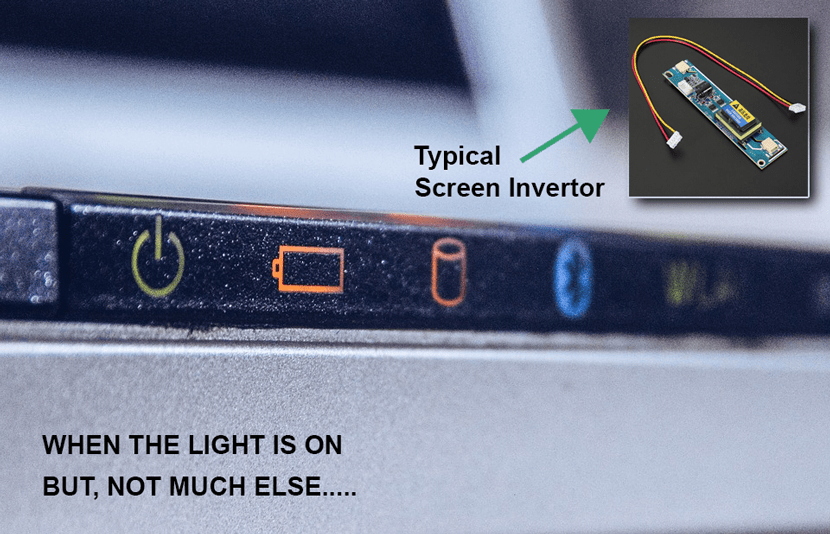 Typical laptop screen invertor