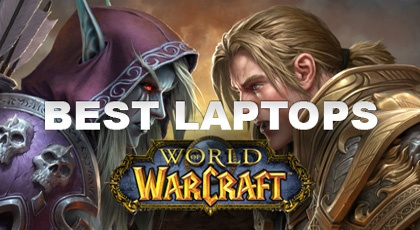 Showing some of the best laptops for playing World of Warcraft