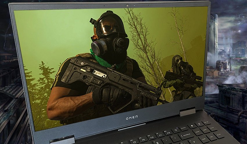 My HP Omen 15 Gaming Laptop with COD Warzone Playing