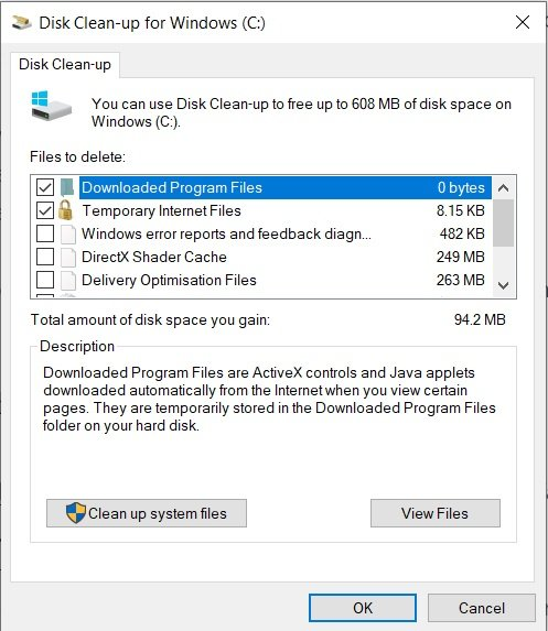 Windows 10 Disk Clean Up Utility Tool