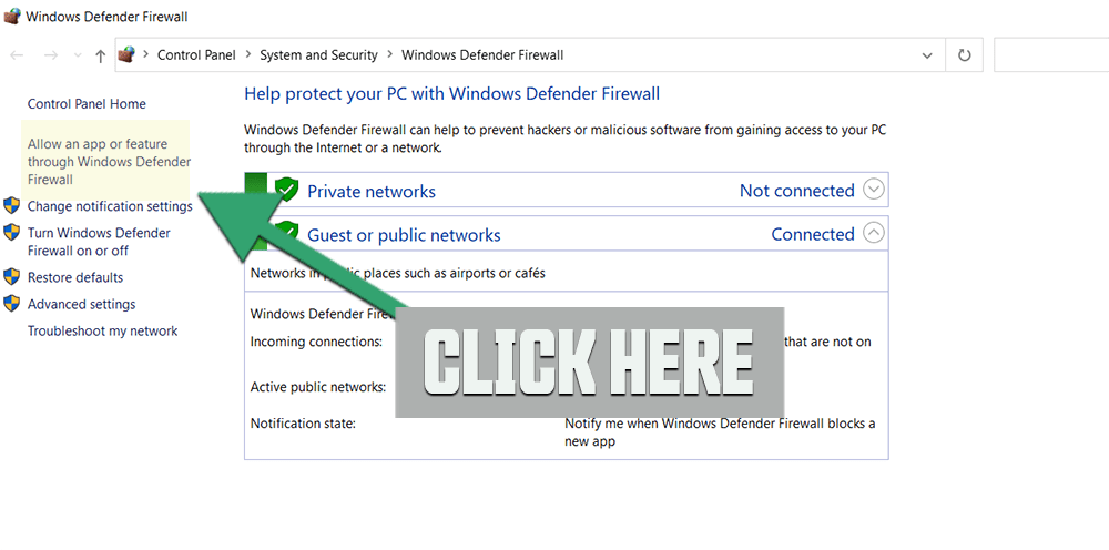 Allow your Application through Windows firewall my stop Call of Duty Warzone crashing
