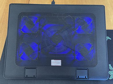 The MV Power Cooling Pad we tested to see if they work with laptops