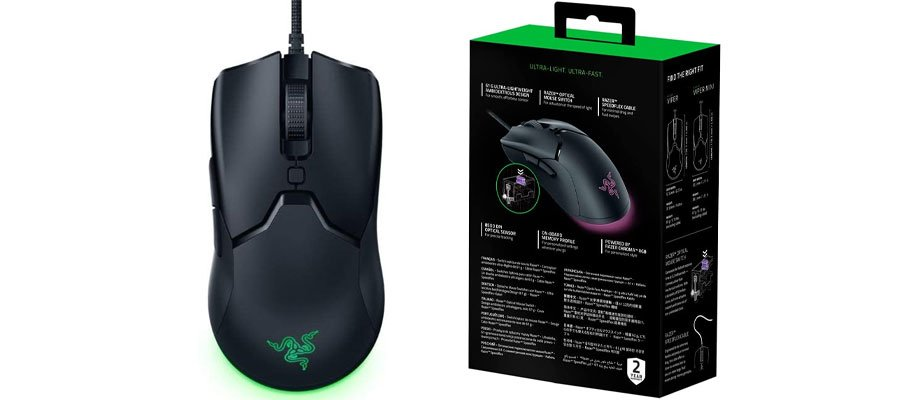 The Razer wired optical gaming mouse would make the perfect accessory for gaming laptop
