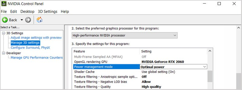 Change Nvidia Graphic Settings to keep laptop cooler