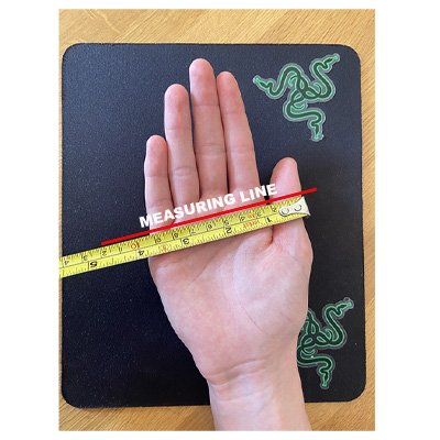 How to measure hand width